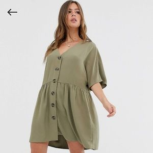 ASOS Button Through Smock Dress